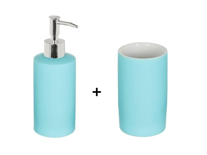 Accessoires de lavabo - gobelet et distributeur de savon rubber ...