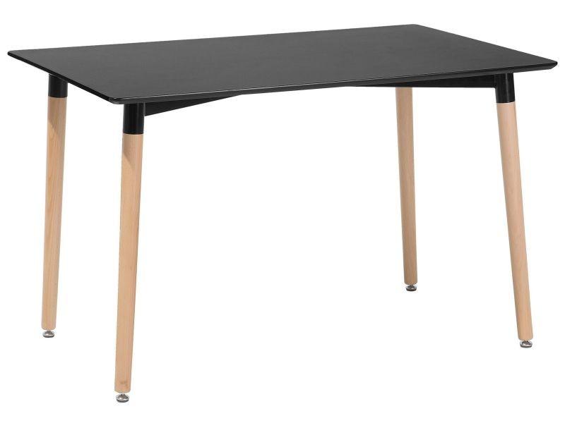 Table de salle à manger - table de cuisine - noir - 120x80 cm - fly ...
