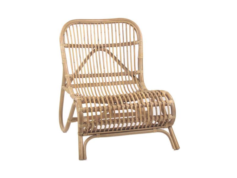 Kim - fauteuil lounge en bambou - couleur - naturel 34006 ...