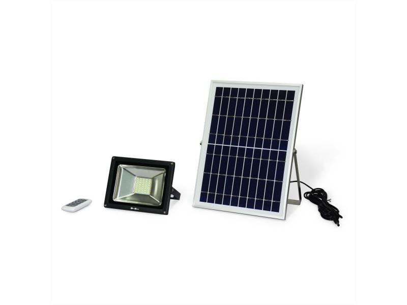b18855b6bb6a0 Projecteur led 20w avec panneau solaire télécommandé blanc froid, lampe  résistante à la pluie et autonome