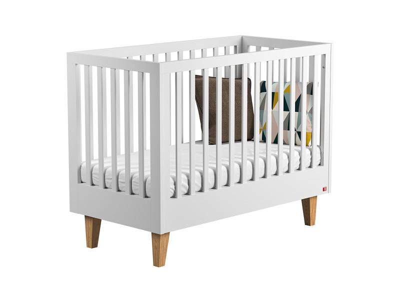 Lit bébé 60x120 lounge - blanc - Vente de VOX - Conforama