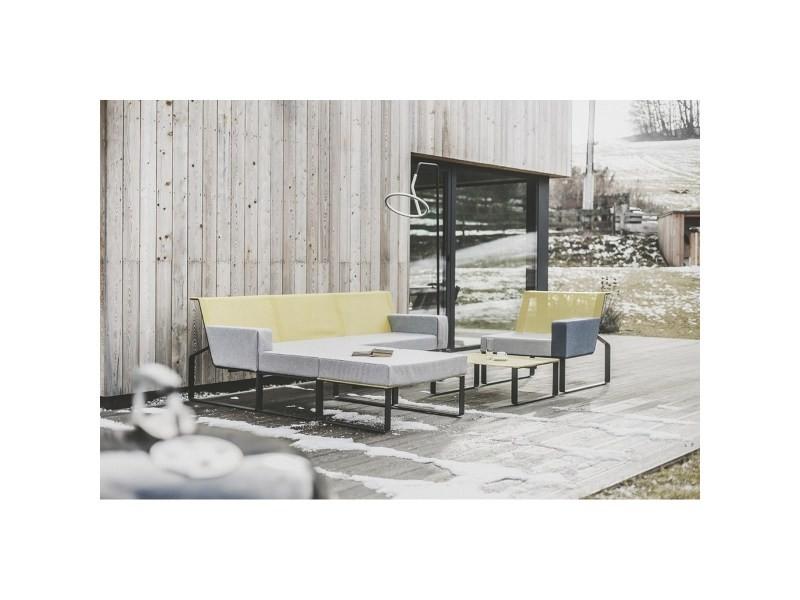 Salon de jardin complet design moja egoe tissu gris - Vente ...