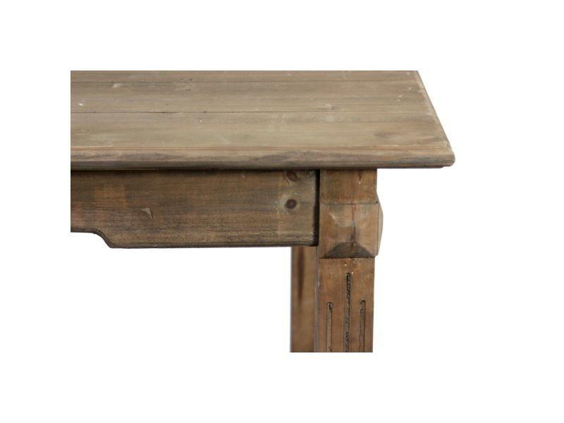 Table Bois 180x90 5x81 5cm Marron Decoration D Autrefois Vente De Decoration D Autrefois Conforama