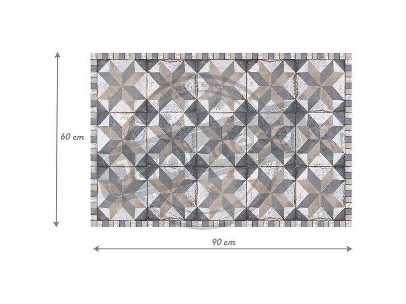 Tapis Interieur Extérieur En Vinyle Carreaux De Ciment 60 X