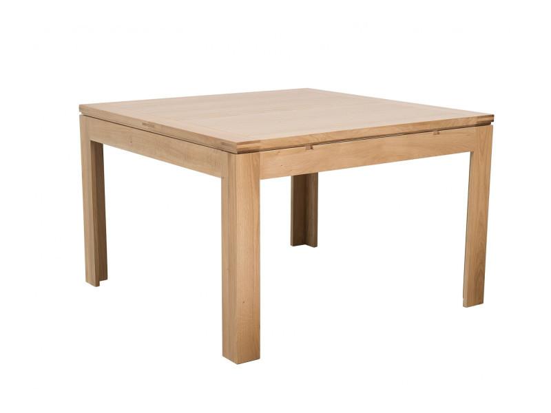 Table carrée boston - bois chêne clair massif