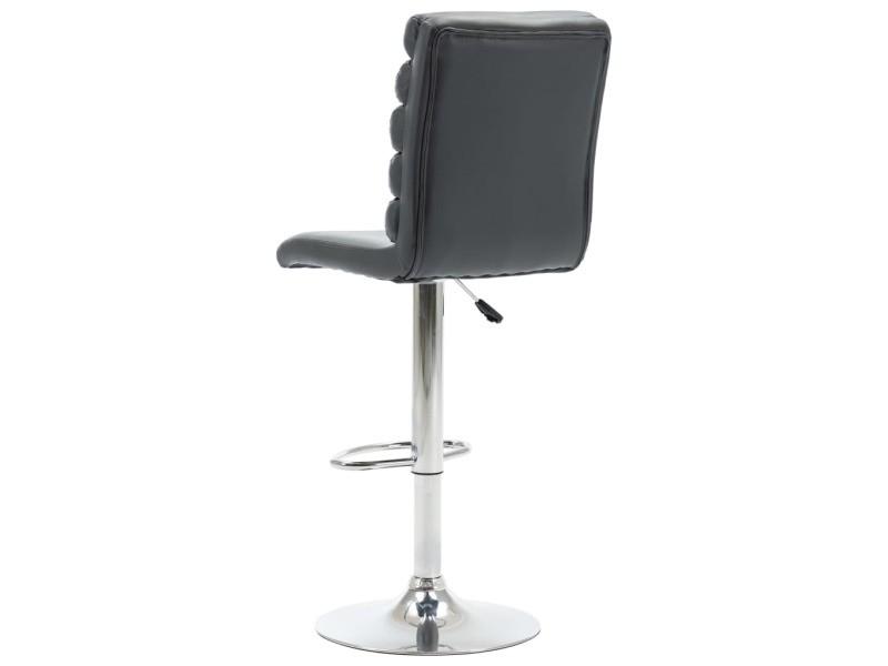 Vidaxl chaise de bar gris similicuir 283508 Vente de