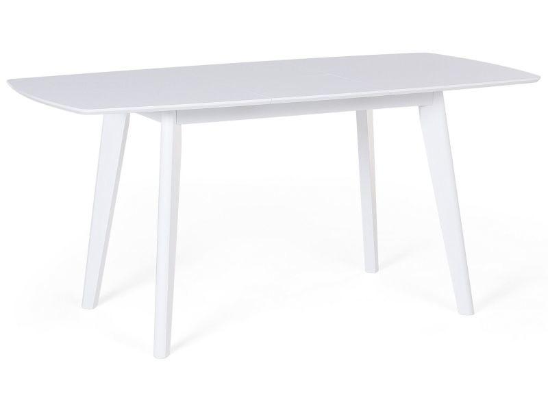 Table de cuisine - extensible - 120-160 x 80 cm - blanc - sanford 53975