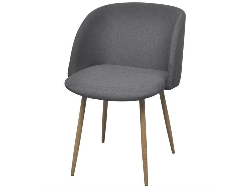 Vidaxl chaises de salle à manger 2 pièces gris foncé 243014 - Vente ...