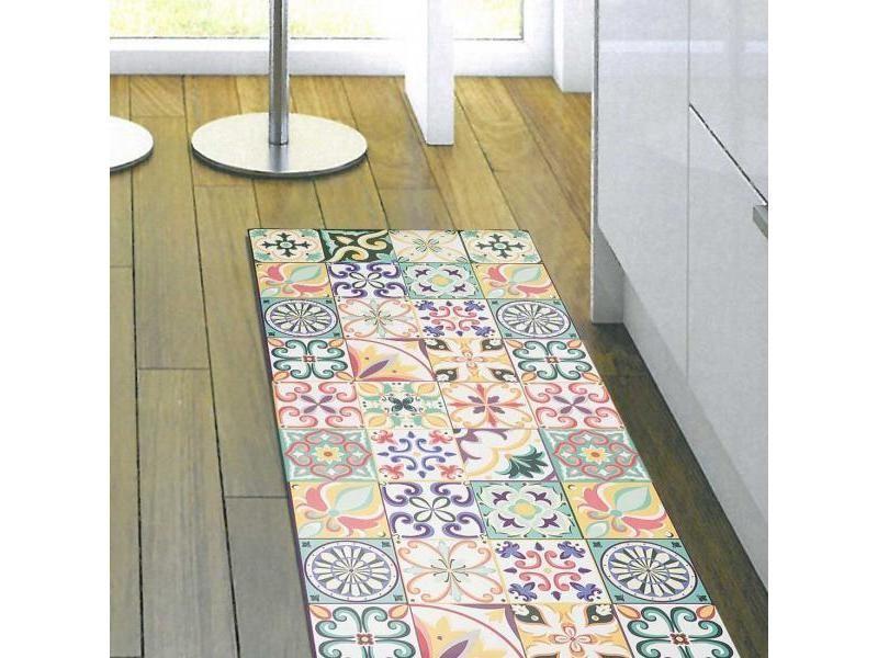 Tapis Chambre Vinyle Aveiro Multicolore 100 X 150 Cm Fabriqué En