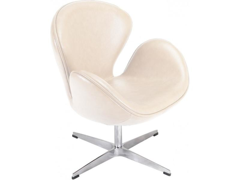 Swan chaise arne jacobsen cuir ivoire