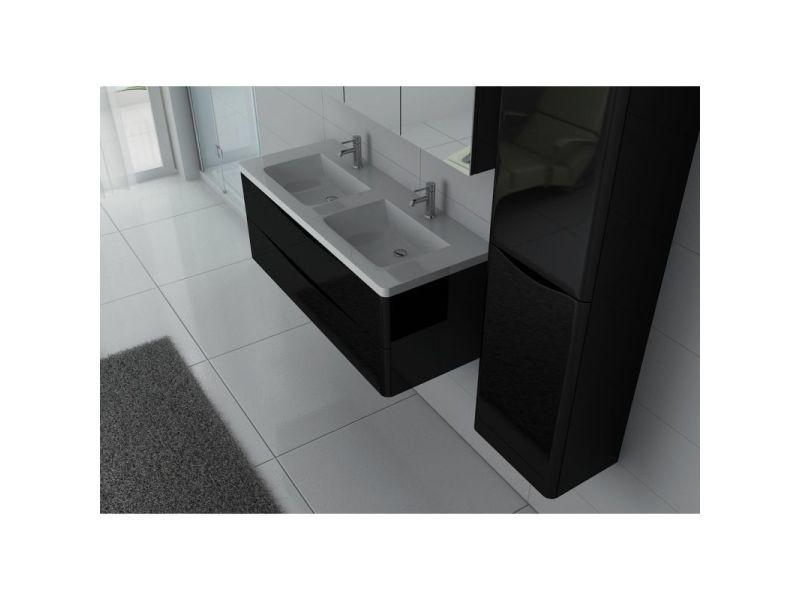 cbe91ffc5f088 Meuble de salle de bain double vasque trevise 1200 noir - Vente de ...