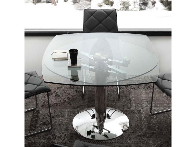 Table En Verre Extensible Design Bonito Vente De Nouvomeuble