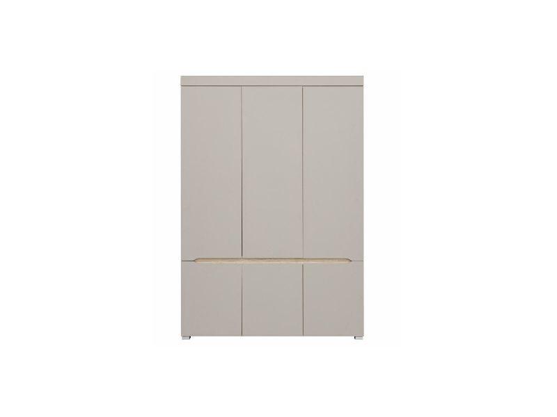 Armoire design 6 portes avec penderie et miroir willy - Vente de ...