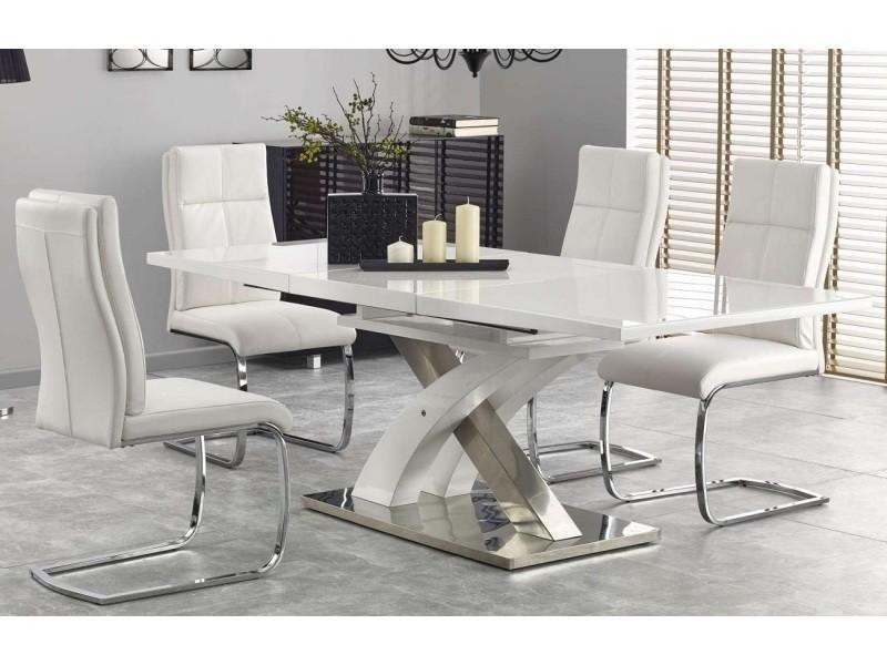 Table a manger rectangulaire extensible 160 ÷220 cm x 90 cm x 75 cm - extra blanc
