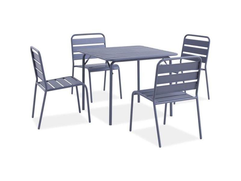 Salon De Jardin Ensemble Table Chaise Fauteuil De Jardin Ensemble