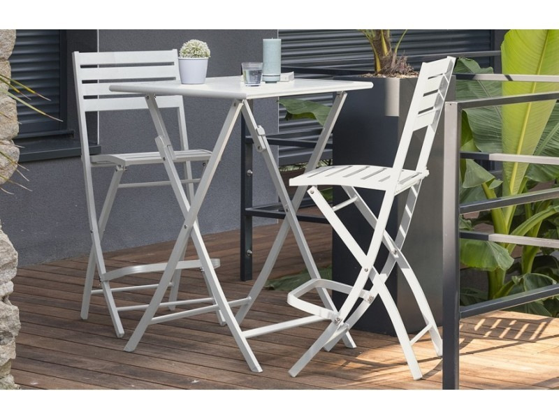 Table haute de jardin marius pliante gris - Vente de HOUSE AND ...