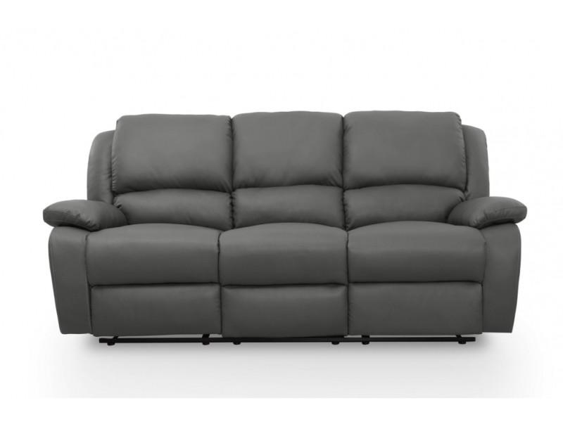 Canapé Relaxation 3 Places Simili Cuir Detente Couleur