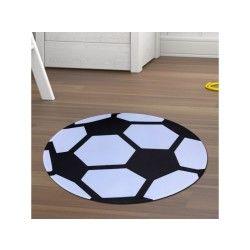 Tapis ultra doux foot noir 75 x 75 cm tapis enfants unamourdetapis plusieurs dimensions et couleurs disponibles