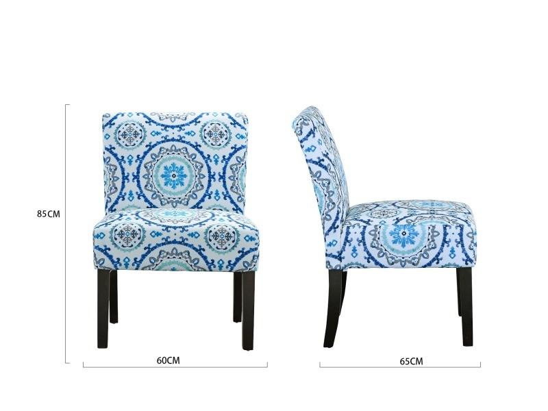 style moderne Emmanuelle de salon tissu chaise élégant KJ5uTc3Fl1