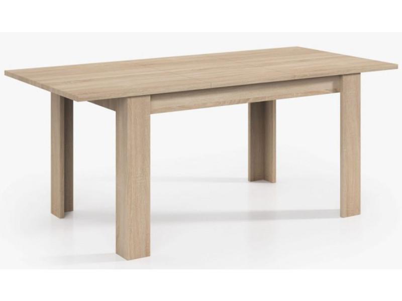 Table extensible de salle à manger coloris chêne - dim : h 78 x l 140-190 x p 90 cm -pegane-