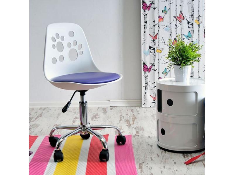 Fauteuil d'enfant chaise de bureau foot couleur blanc