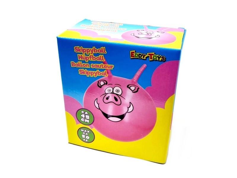 Ballon sauteur cochon rose pogo enfant balle rebondissante