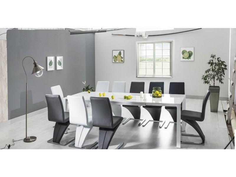 Table à manger rectangulaire extensible 130 ÷ 250 cm x 90 cm x 76 cm