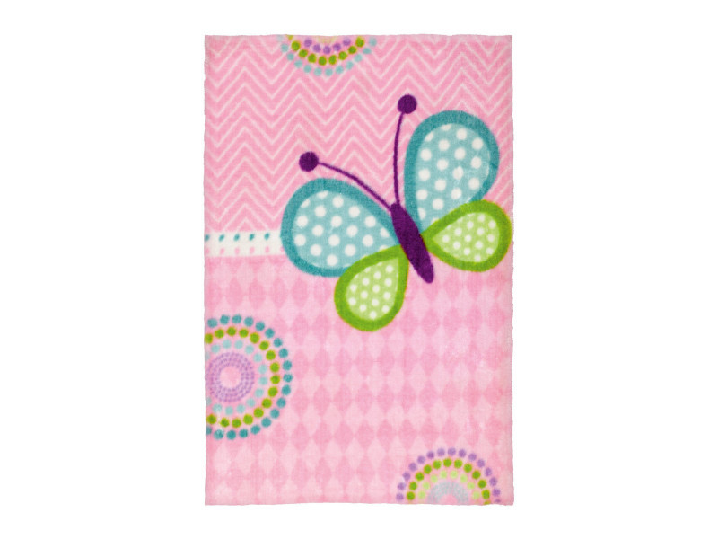 Elegant Tapis Pour Chambre De Fille Doux Multicolore Butterfly Multicolore 90x130