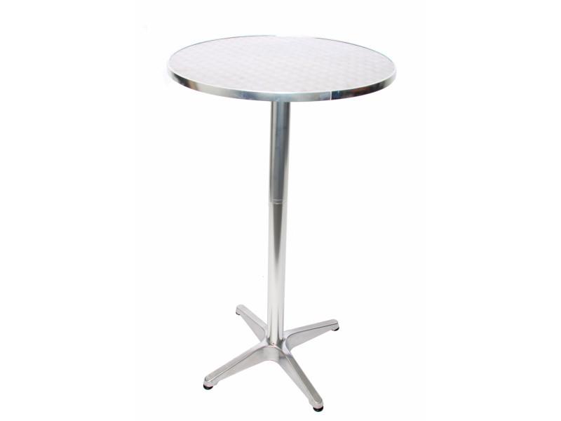 Table de bar + table bistro en aluminium, hauteur réglable 70/110cm, ø=60cm ~ modèle de base