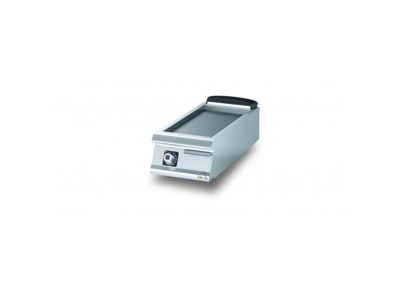 Plancha electrique rainurée chromée diamante 90 - 400 à 800 mm - olis - chromé 400 mm 900
