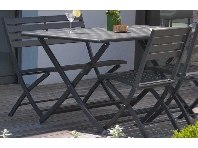 De Gris Vente En Pliante Aluminium Garden Dcb Anthracite 9ewh2iyd Table JT1lFcK