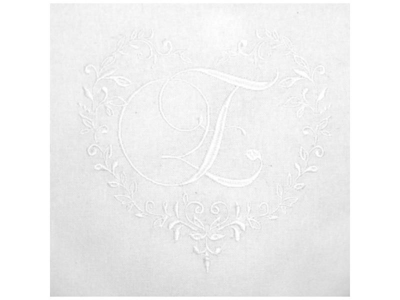 Coton Blanc 45x70 cm Soleil docre T/ête de Lit Brod/é D/éhoussable