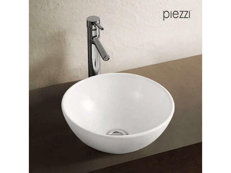 vasque a poser blanche Vasque à poser en céramique blanche, forme bol 32 cm - rondo