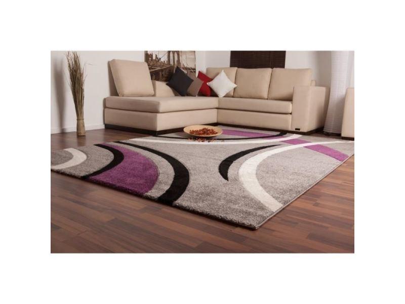 Tapis - dessous de tapis havanna tapis de salon 160x230 cm violet ...
