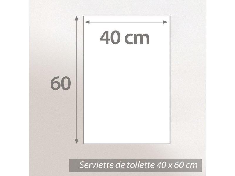 Linnea Serviette de Toilette 40x60 cm Royal Cresent Blanc Cr/ème 650 g//m2
