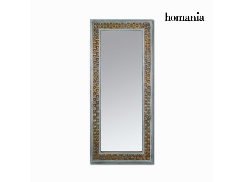 Grand miroir rectangulaire marron bois de sapin 84x6x180 cm ...