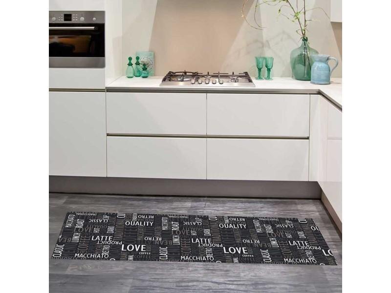 Tapis chambre cafe love gris 67 x 180 cm tapis cuisine par ...