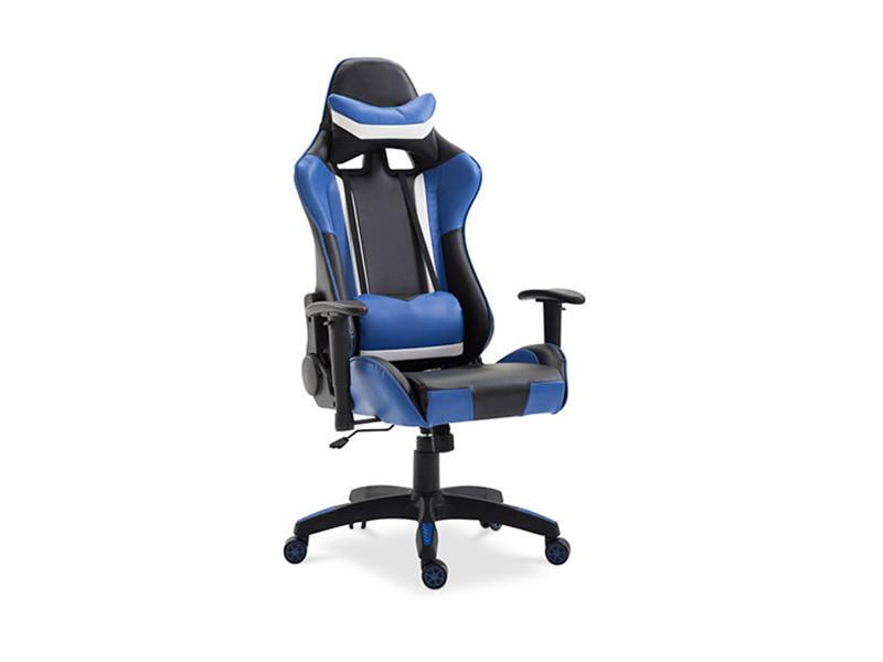 Chaise De Bureau Racing Gaming Bleu